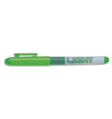 PILOT Surligneur de poche pointe biseautée encre liquide coloris vert V-LIGHT