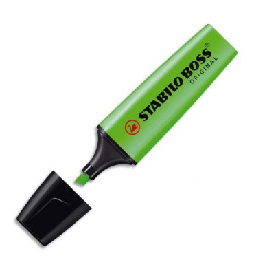 STABILO Surligneur pointe biseautée vert BOSS