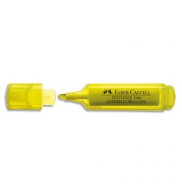 FABER CASTELL Surligneur TEXTLINER 1546, pointe feutre biseautée, coloris jaune