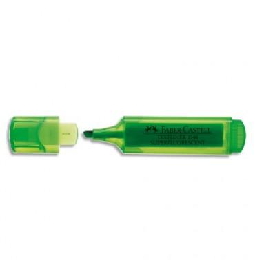 FABER CASTELL Surligneur TEXTLINER 1546, pointe feutre biseautée, coloris vert