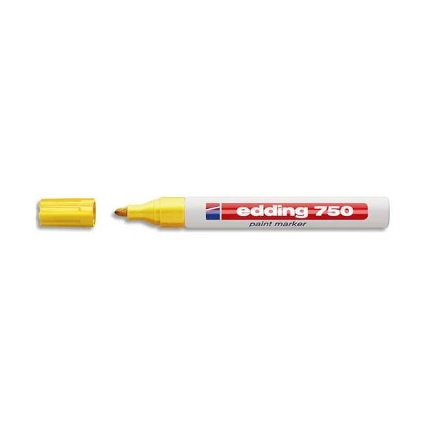 EDDING Marqueur peinture E750 laquée jaune, pointe moyenne ogive