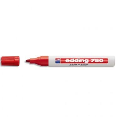 EDDING Marqueur peinture E750 laquée rouge, pointe moyenne ogive