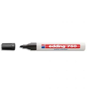 EDDING Marqueur peinture encre permanente noire pour toutes surfaces pointe moyenne