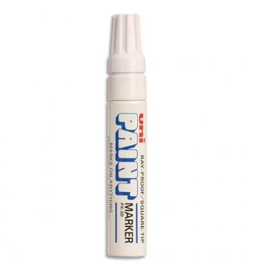 UNIBALL Marqueur peinture à huile, encre à pigmentation blanche, pointe extra large UNI PAINT PX30