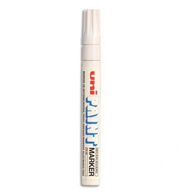 UNIBALL Marqueur peinture à huile, encre à pigmentation blanc, pointe moyenne ogive UNI PAINT PX20