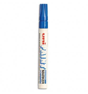 UNIBALL Marqueur peinture à huile, encre à pigmentation bleue foncé, pointe moyenne ogive UNI PAINT PX20