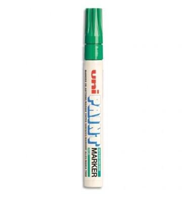 UNIBALL Marqueur peinture à huile, encre à pigmentation vert foncé, pointe moyenne ogive UNI PAINT PX20