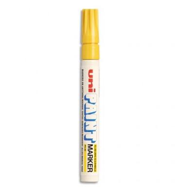 UNIBALL Marqueur peinture à huile, encre à pigmentation jaune pointe moyenne ogive UNI PAINT PX20