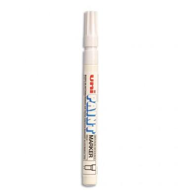 UNIBALL Marqueur peinture à huile, encre à pigmentation blanc, pointe fine ogive UNI PAINT PX21