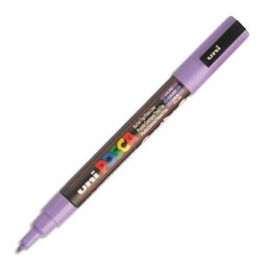 UNIBALL Marqueur peinture à l'eau, encre à pigmentation violette, pointe fine UNI POSCA PC3M