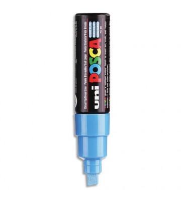 UNIBALL Marqueur peinture à l'eau, encre à pigmentation bleu clair, pointe large UNI POSCA PC8K