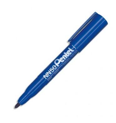 PENTEL Marqueur permanent pointe ogive corps plastique encre bleue formule écologique NN50