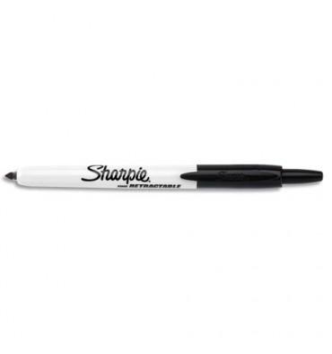SHARPIE Marqueur permanent pointe ogive rétractable Noir S0437020