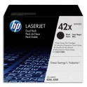 HP Cartouche toner laser noir 42X - Q5942XD