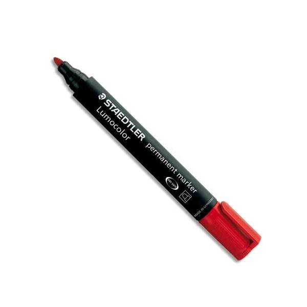 STAEDTLER Marqueur permanent pointe ogive corps plastique encre rouge à base d'alcool ne