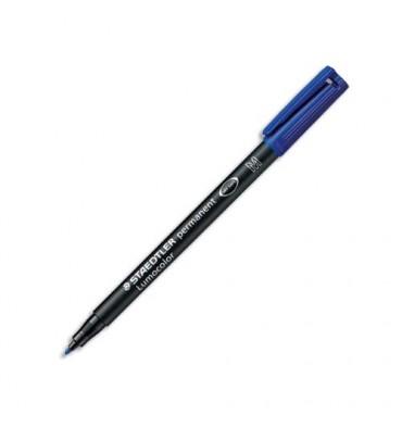 STAEDTLER Feutre pour rétroprojection pointe moyenne encre permanente bleue LUMOCOLOR