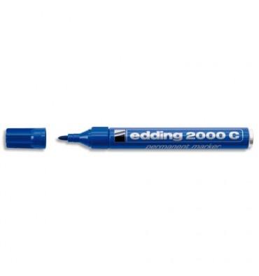 EDDING Marqueur permanent pointe ogive encre indélébile bleue sans solvant 2000C