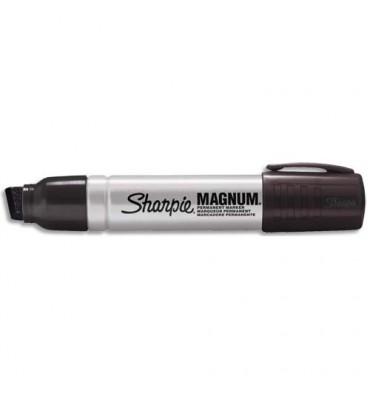 SHARPIE Marqueur Indélébile Extra -Large pointe biseautée Noir, corps métal
