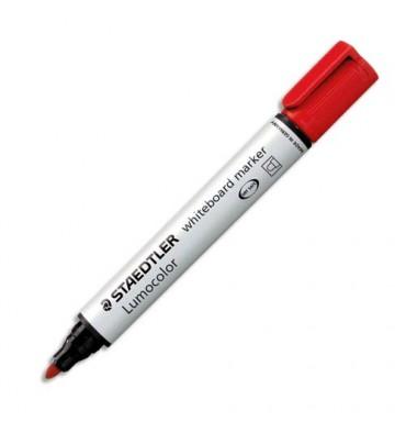 STAEDTLER Marqueur effaçable à sec pour tableaux blancs pointe ogive encre à base d'alcool rouge 351
