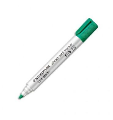 STAEDTLER Marqueur effaçable à sec pour tableaux blancs pointe ogive encre à base d'alcool verte 351