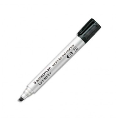 STAEDTLER Marqueur effaçable à sec pour tableau blanc pointe biseautée encre à base d'alcool noire 351B