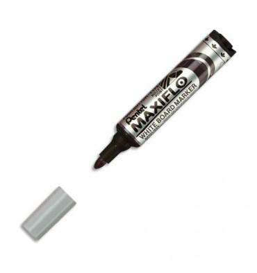 PENTEL Marqueur effaçable sec tableaux blancs pointe ogive large encre liquide base alcool noire MAXIFLO