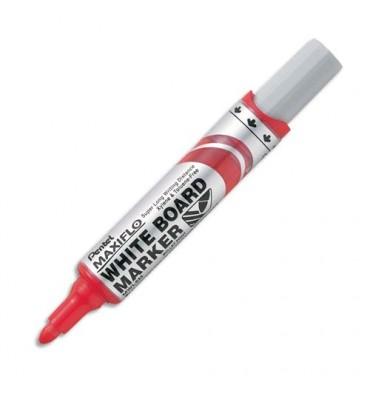 PENTEL Marqueur effaçable sec tableaux blancs pointe ogive large encre liquide base alcool rouge MAXIFLO