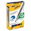 BIC Pochette de 4 marqueurs effaçables à sec pointe ogive encre alcool 4 couleurs assorties VELLEDA 1704