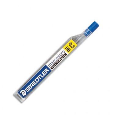 STAEDTLER Etui de 12 mines 0,3 mm polycarbone haute qualité HB MARSMICRO