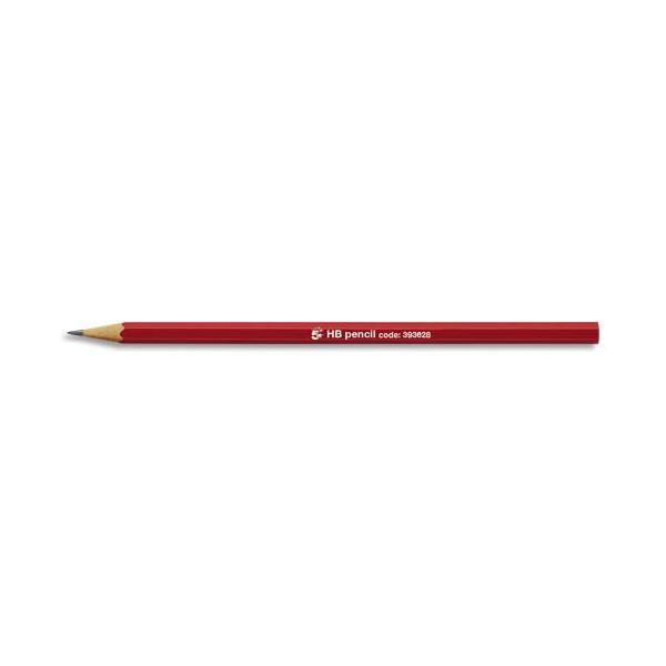 5 ETOILES Crayon graphite tête coupée mine HB (photo)