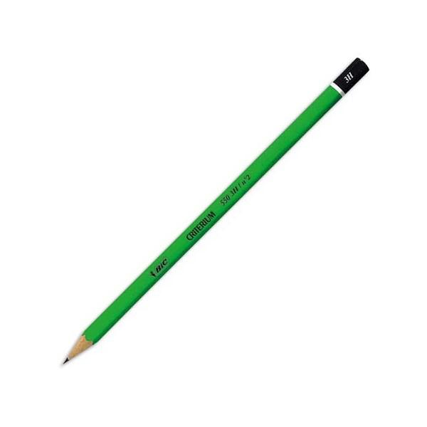 BIC Crayon graphite tête trempée mine 3H CONTE CRITERIUM 550