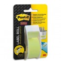 POST-IT Bande de correction adhésive supersticky sur dévidoir plastique jetable 254 mm x 10,1m - jaune