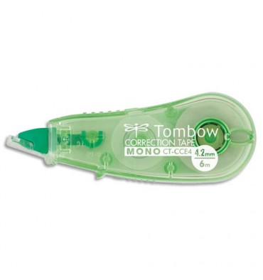 TOMBOW Mini roller de correction Micro tombow compact, 4,2 mm x 6 m, coloris translucide
