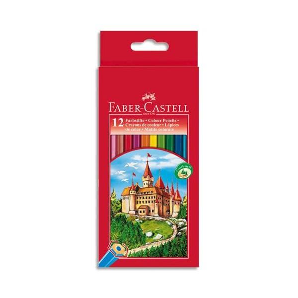 FABER CASTELL Etui 12 crayons de couleur CHÂTEAU. Coloris assortis