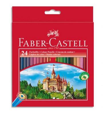 FABER CASTELL Etui 24 crayons de couleur CHÂTEAU. Coloris assortis