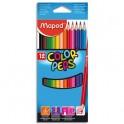 MAPED Pochette 12 crayons de couleur COLOR'PEPS. Coloris assortis