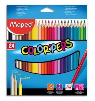 MAPED Pochette 24 crayons de couleur COLOR'PEPS. Coloris assortis