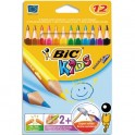BIC KIDS Etuis de 12 crayons Evolution Triangle
