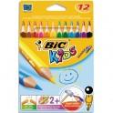BIC KIDS Etuis de 12 crayons Evolution Triangle
