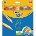 BIC KIDS Etui 24 crayons de couleur TROPICOLOR2 (version sans bois). Coloris assortis
