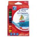 LEFRANC & BOURGEOIS Boîte 12 pastels à l'huile COLOR & CO. Coloris assortis