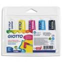 GIOTTO Blister de 5 tubes de gouache 21 ml, coloris assortis primaires
