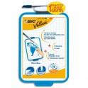 BIC Ardoise VELLEDA effaçable à sec 19 x 26 cm. Avec 1 feutre pointe fine encre bleu