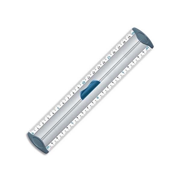 MAPED Double décimètre en aluminium 20 cm