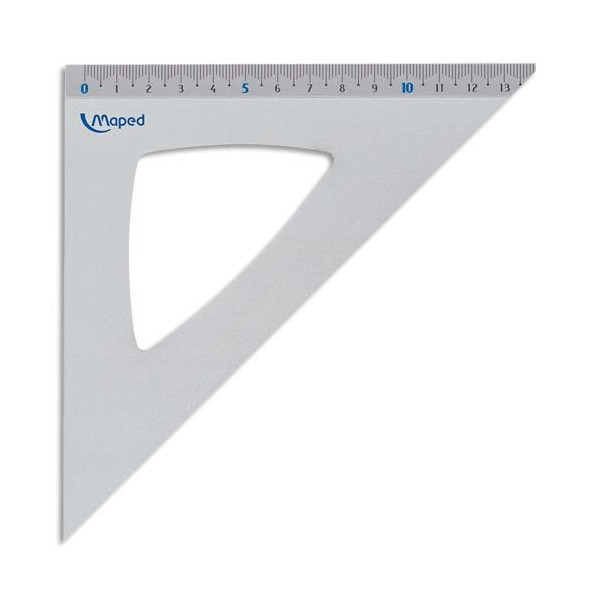 MAPED Equerre 45 degrés 21 cm aluminium anodisé