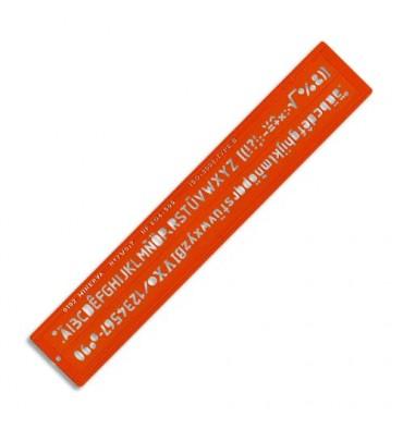 MINERVA Trace-lettres hauteur 10 mm norme ISO, longueur 43,5 cm