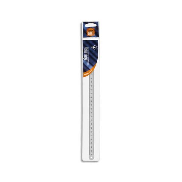 WONDAY Réglet inox 2 faces mm et 1/2 mm 30 cm