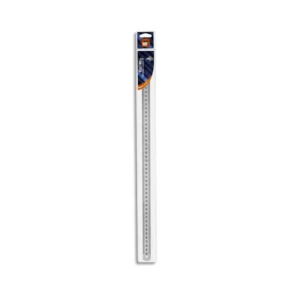 WONDAY Réglet inox 2 faces mm et 1/2 mm 50 cm
