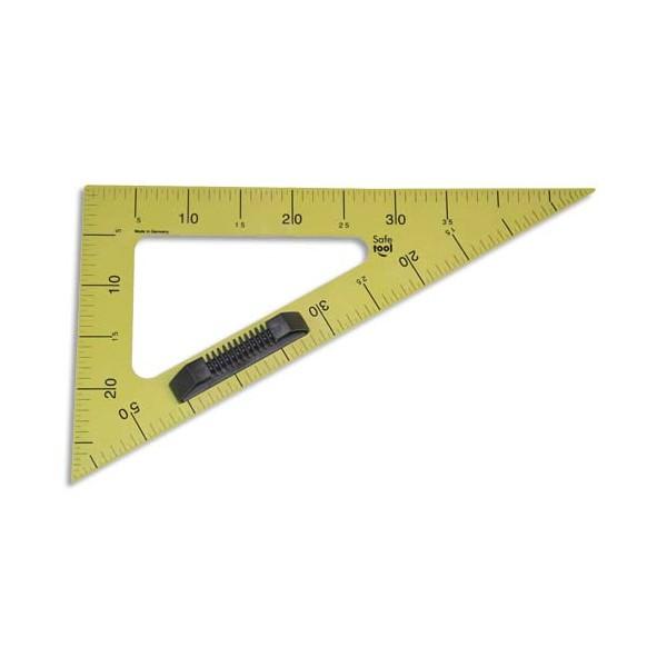 SAFETOOL Equerre 60° en plastique incassable jaune graduée 50 cm avec poignée noire amovible pour tableau