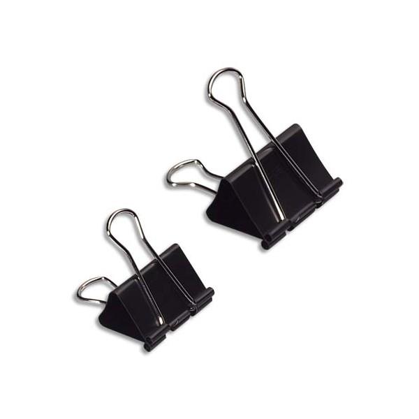 WONDAY Boîte de 12 pinces double clip largeur 19 mm capacité 6 mm
